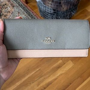 Coach Two Tone Large Wallet